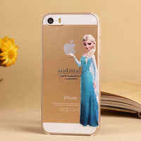 Frozen Princess Anna and Elsa iPhone 5 5s Case Cover, Disney Princess Cases