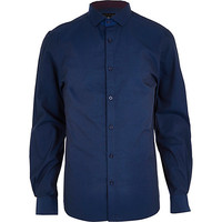 River Island MensMidnight blue long sleeve shirt