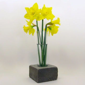 Concrete Vase, Glass Vase, Cement Vase, Flower Vase, Unique Vase, Floral Vase, Industrial Vase, Decorative Vase, Modern Vase, Tall Vase