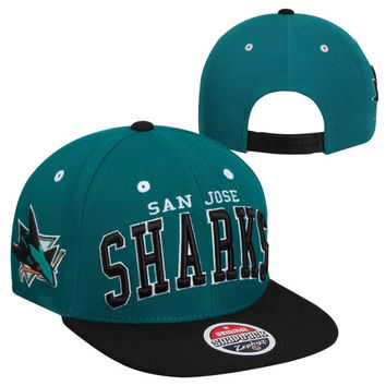 Zephyr San Jose Sharks Super Star Snapback Hat - Teal/Black