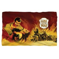 Gone with the Wind/Fire Poster Fleece Blanket