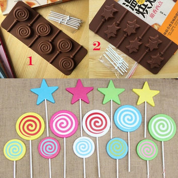 Chocolate Candy Jelly Mold Cake Cookie Muffin Baking Silicone Bakeware Mould = 5658102721