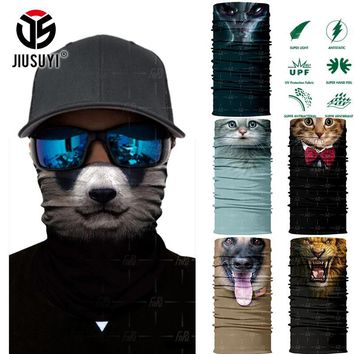 3D Seamless Cute Animal Cat Dog Panda UFO Magic Headband Tube Shield Face Mask Bandana Headwear Ring Head Scarf for Men Women