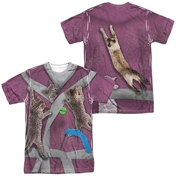 Crazy Cat Lady Halloween Costume T-shirt Front & Back