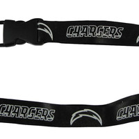 San Diego Chargers Lanyard - Breakaway with Key Ring - Blackout