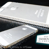 100% auth. SWAROVSKI ELEMENTS Clear Crystal iPhone 5 Bling Hard Case Cover Bumper (w/ LCD Film) 02
