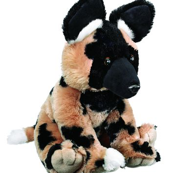17 Inch African Wild Dog Floppy Zoo Stuffed Animals