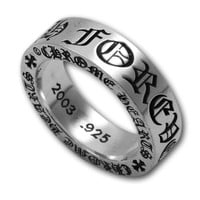 CHROME HEARTS RING WITH FOREVER LOGO 2003 - Chrome Hearts Ring