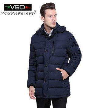 Victor&Sasha Design 2016 Hot Sale High Quality Cotton Brand Clothing Winter Coat Men's Jackets Winter Thick Jacket Parkas VS5866
