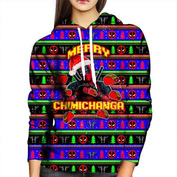 Merry Chimichanga Womens Hoodie