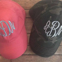 Monogrammed Baseball Cap | Monogrammed Ball Cap | Preppy Ball Cap | Baseball Cap | Gifts under 20 | Gift for her | Monogrammed Hat