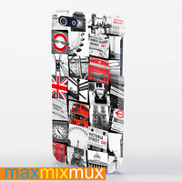 London Style iPhone 4/4S, 5/5S, 5C Series Full Wrap Case