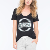Young & Reckless Calibration Womens Boyfriend Tee Black  In Sizes