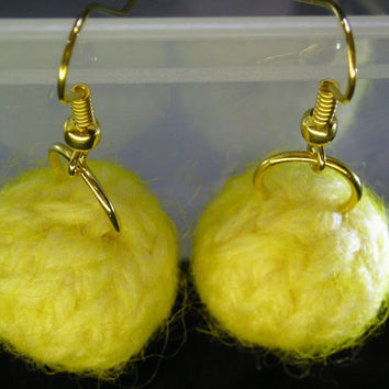 Knitted and Felted Earrings
