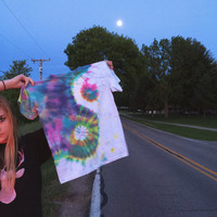 Rainbow Yin Yang Tie Dye T-shirt - Ready to ship!