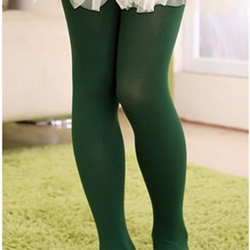 christmas Dark green clothing baby girls tights wapiti cotton tights kids girls pantyhose warm winter children's stockings 0-18.