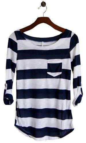 Perfect Everyday Shirt, Navy Stripes - SOLD OUT