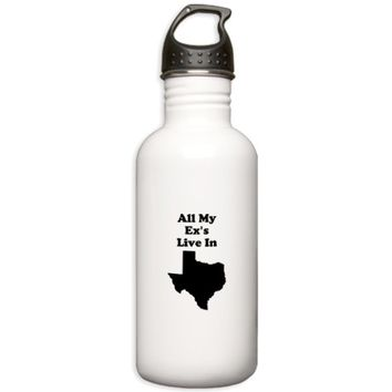 All My Exs Live In Texas Water Bottle