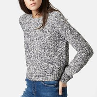 Petite Women's Topshop Cable Knit Pullover