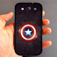 Hot Captain America Logo Shield Samsung Galaxy S2 S3 S4 Mini Note 1 2 3 Nexus S Ace Plus Hardshell Back Case Great Gift