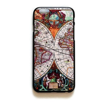 iPhone 6 Case World Map iPhone 6 Hard Case Old Map Back Cover For iPhone 6 Antique Map Slim Design Case 279