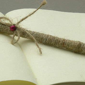 Wedding Pen For Guest Book Shabby Chic Wedding Pen Burlap  Pen  Bridal Showers