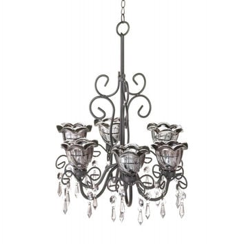 Midnight Blooms Chandelier