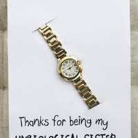 Thank you Gift Woman Stainless Steel Thin Band Gold Watch - Elephant Accessories