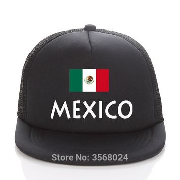 Trendy Winter Jacket 2018 football Adult Trucker Hats  Sun Hat MEXICO Football Mesh Baseball Cap Women Printed MEXICO Flag Snapback For Men AT_92_12