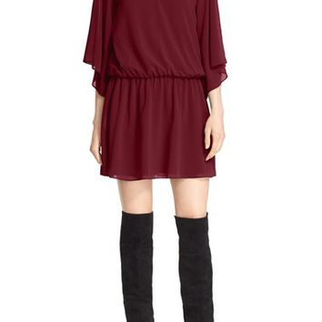 Alice + Olivia 'Lyla' Wide Sleeve Blouson Dress | Nordstrom