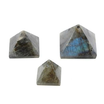 Overvalue Natural Pyramid Crystal Stone Healing Orgone Feng Shui Gemstone for Home Decor Crafts Ornaments Gifts 15/25/50mm