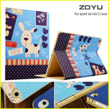 ZOYU Smart Cover For Apple iPad air 2/air 1 case hot case for iPad 5 /6 case