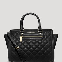 MICHAEL Michael Kors Satchel - Quilted Large Selma Top Zip