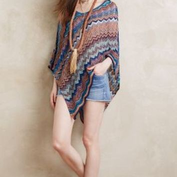 Missoni Marinella Poncho in Blue Size: One Size Sweaters