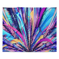 "Danny Ivan ""Enjoy Life"" Purple Blue Fleece Throw Blanket"