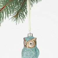 Glitter Owl Ornament