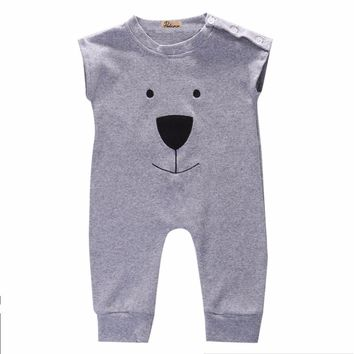 2016 Fashion Cute Newborn Baby Girl Boy Cotton Bear Fleece Rompers Bodysuit Playsuit Jumpers Outfits