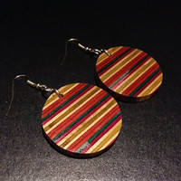 Recycled Skateboard Earrings