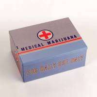 Medical Marijuana Tin Box for your Stuff.  Personal Items' Box and/or Container.