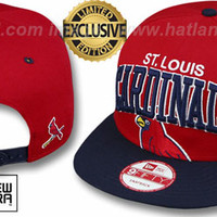 mobile product - Cardinals SUPER-LOGO ARCH SNAPBACK Red-Navy Hat
