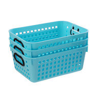 Creative U-3 pack Rectangular Decor Baskets-Blue at Joann.com