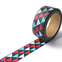 Washi Masking Tape  Coloured Triangles by rabbitandtheduck on Etsy
