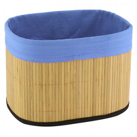 Bamboo Storage Basket Blue