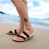 Summer Casual Flat Sandal Slippers Beach Flip Flops for Men