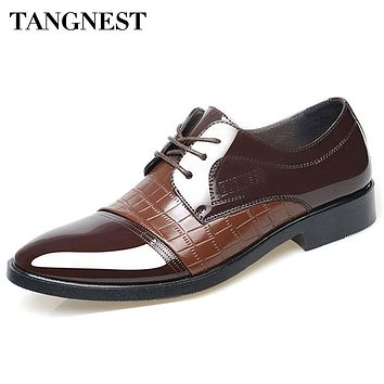 Men Business Classic British Oxfords  Pointed Toe Shoes
