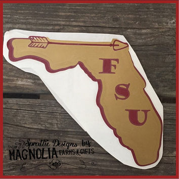 Florida State University Inspired Car Decal