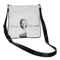 White Marilyn Monroe Iconolized Hipster Messenger