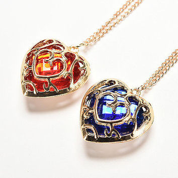 For the Legend of Zelda Skyward Sword Heart Container Necklace Pendant Anime R