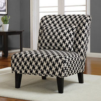 Anna Houndstooth Grande Accent Chair | Overstock.com
