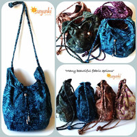 Hippy Satchel, Hobo Bag, Cross Body, Shoulder, Purse, Beach, Diaper, Hippie, Gypsy, Tote, Tie Dye